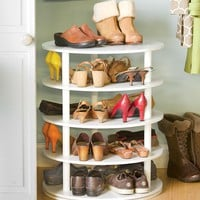 Rotating Five-Tier Shoe Rack - Plow & Hearth