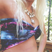 Galaxy Twist Bandeau by wannabeehipster on Etsy