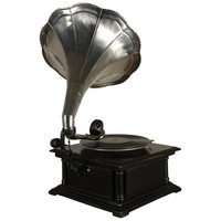 Antique Style Morning Glory Gramophone In Working Condition