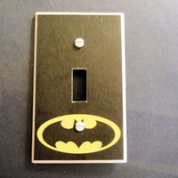 Batman Symbol Light Switch Cover by myevilfriend on Etsy