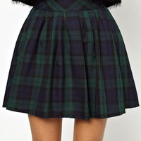 Daisy Street Plaid Mini Skirt