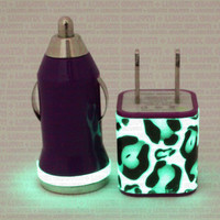 Zebra Glow in the Dark iPhone 5 Car Charger by LunatixGraffiti