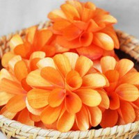 Wooden Dahlias - Orange | AccentsandPetals - Wedding on ArtFire