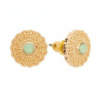 LC Lauren Conrad Gold Tone Simulated Crystal Stud Earrings