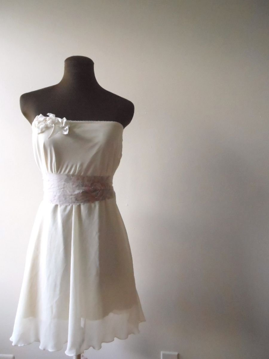 Rustic wedding dress woodland boho french from for Boho country wedding dress