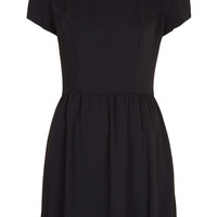 Contrast Collar Dress - Topshop USA