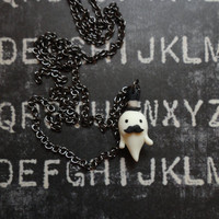 The Gentleman Ghost Pendant - Polymer Clay