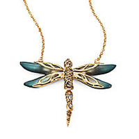Alexis Bittar - Jeweled Dragonfly Necklace/Teal - Saks Fifth Avenue Mobile