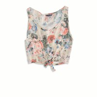 AE Effortlessly Chic Crop Chiffon Tank | American Eagle Outfitters