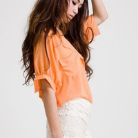 Laidback Artist Short Sleeves in Orange - New Arrivals - Retro, Indie and Unique Fashion