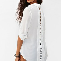 Laced Tail Blouse - White in  What's New at Nasty Gal