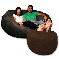Micro Suede Bean Bag Ottoman at Brookstone—Buy Now!