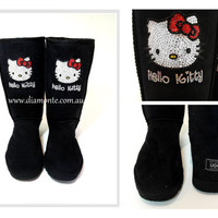 UGG Boots Tall Synthetic Featuring Hello Kitty Swarovski Crystals