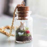 Handmade Gifts | Independent Design | Vintage Goods Woodland Terrarium Necklace