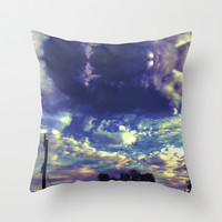 Closed Eye Sheet Music Throw Pillow by Ben Geiger