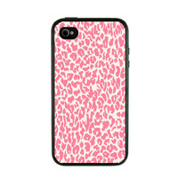 Iphone Case  Pink Leopard Print Iphone 4 Case by fundakcases