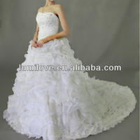 2013-ruffle Organza Boll Gown Wedding Dress G2575 - Buy Wedding Dress,Wedding Dress 2013,Alibaba Wedding Dress Product on Alibaba.com