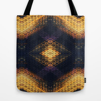 Black & Gold Diamond Tote Bag by Ally Coxon