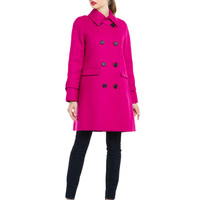 "Some of you have to get in on this: Trina Turk ""Charlotte"" Hot Pink Twill Coat"