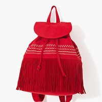 Mojave Fringe Backpack - Red in What&#x27;s New at Nasty Gal