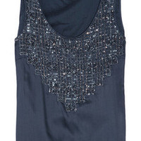 DAY Birger et Mikkelsen | Day Camille embellished washed-satin top | NET-A-PORTER.COM