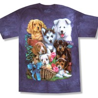 "Youth The Mountain ""Puppies"" Purple Tie Dye T-Shirt"