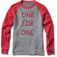 Women's Smiley Crewneck Sweatshirt - Heather Grey/Red