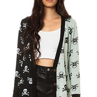 Reverse Cardigan Cross Bones