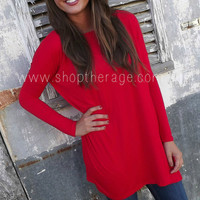 Red Piko Tunic/Dress | The Rage