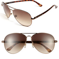 MICHAEL Michael Kors 62mm Metal Aviator Sunglasses | Nordstrom