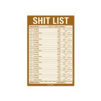 Amazon.com: Knock Knock Shit List Note Pad (12035): Office Products