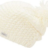 Burton Girls Katie Joe White Pom Beanie at Zumiez : PDP