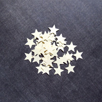 200 Punched Cream Stars, Party Decor, Confetti,  Weddings, Showers, Embellishments