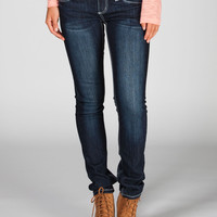 Zco Studded Wings Womens Skinny Jeans Dark Blast  In Sizes