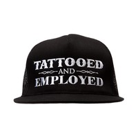 Tattooed & Employed Snapback Hat