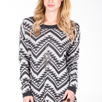 Cozy Zig Zag Sweater - Women's Clothing and Fashion Accessories | Bohme Boutique