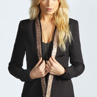 Isabel Sequin Collar Blazer