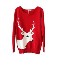 Christmas Sweater Cardigan Various Patterns of Reindeer Snowman Snowflakes Tree