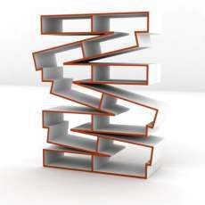Crinkled Plywood Shelves - The 'Pallet' Shelf by Baita Design Looks Like a Stack of Pallets (GALLERY)