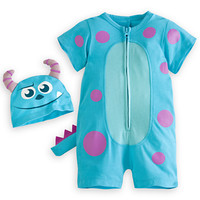 Disney Sulley Short Sleeve Romper for Baby | Disney Store