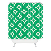 DENY Designs Home Accessories | Holli Zollinger Emerald Diamonds Shower Curtain