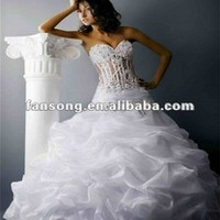New Arrival Sweetheart Beaded Transparent Corset Wedding Dress - Buy Wedding Dress,Sexy Organza Wedding Dress,Corset Bodice Wedding Dress Product on Alibaba.com