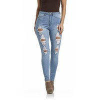 Nicki Minaj- -Women's Deconstructed Skinny Jeans-Clothing-Women's-Jeans