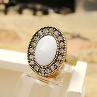Vintage Style Seashell Oval Ring 051898A from psiloveyoumoreboutique