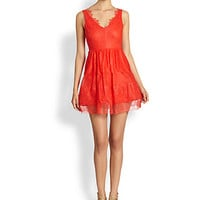 BCBGMAXAZRIA - Willa Tiered Lace Dress
