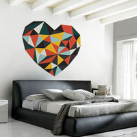 Diamond Heart Wall Decal