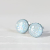 Snowflake Sparkle Post Earrings - Hypoallergenic Studs