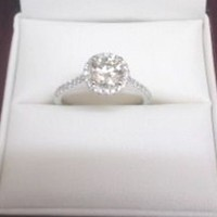 Have You Seen the Ring?: 1.00ct Round Brilliant Diamond Engagement Ring