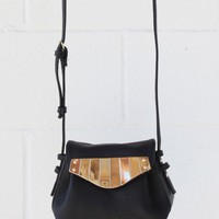 Metal Flap Leather Bag
