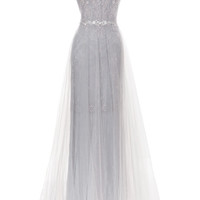 Crystal Floral Embroidered Lace Gown by Marchesa for Preorder on Moda Operandi